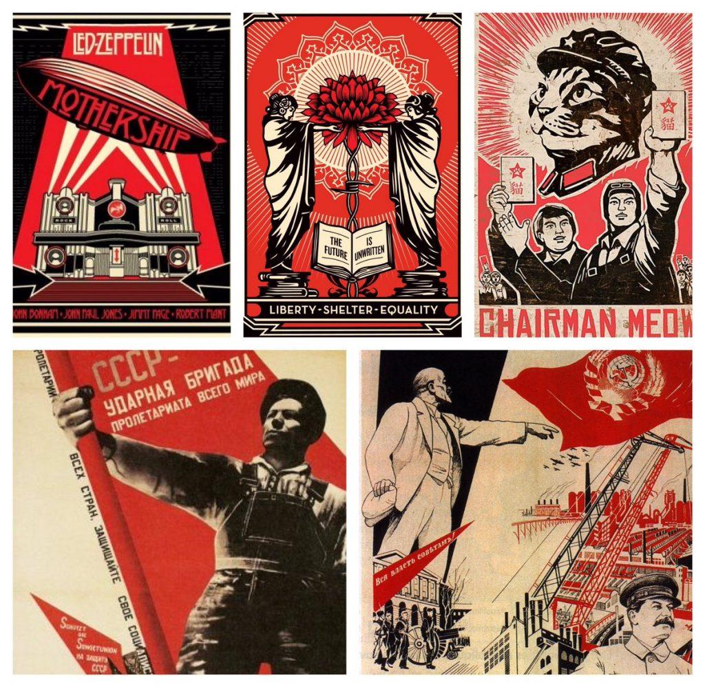 magnifiques affiches noire + rouge + papier de plusieurs styles graphiques